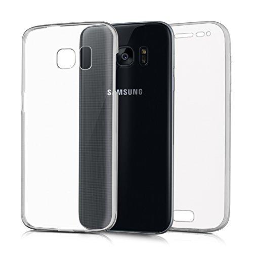 kwmobile Funda Compatible con Samsung Galaxy S7 - Carcasa Completa 360 para móvil - Cover Doble - Transparente