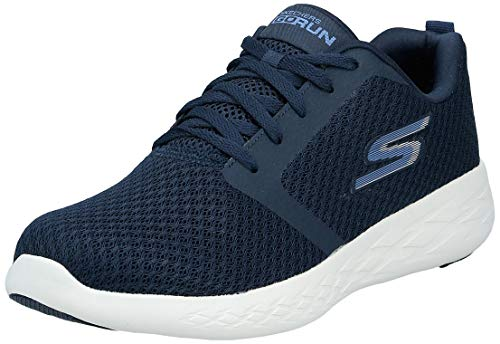 Skechers Men's GO RUN 600 Trainers, Blue (Navy Textile/White Trim Nvw), 9.5 UK (44 EU)
