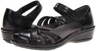 (アラヴォン)Aravon レディースサンダル・靴 Clarissa Black Leather 12 29cm M (B) [並行輸入品]