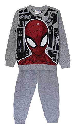 Marvel'S Spider-Man, Spidey Algodón Pijama Conjunto de Camisa, Pijama con Mangas largas y Mangas largas Ropa de Dormir, Ropa de salón para Chicos (Gris, 6 Años)