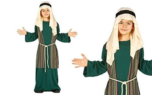 GUIRMA Disfraz de Pastor árabe judío Verde Pesebre Viviente Infantil