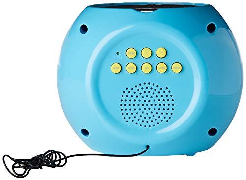 Lexibook Licorne Unicorn, Radio réveil projecteur, effets sonores, à piles, bleu, RL975UNI