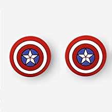 Silicone Analog Controller Grips Cap Thumb Stick Joystick Cover for PS4 PS3 Xbox 360 Xbox One Nitntend Switch Pro Wii u Controller Game Accessories (Captain America)