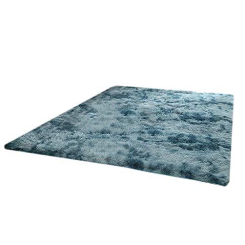 For Sale! Super Soft Modern Area Rugs – Non-Slip ,for Kids Girls Room Princess Castle Room Decor (Color : Blue, Size : 120×160cm)