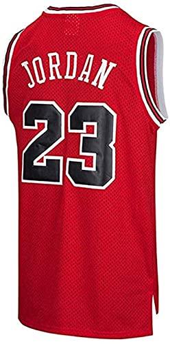 xzl Camiseta de baloncesto para hombre de la NBA Michael Jordan #23 Youth Training Chaleco transpirable ropa deportiva clásica, rojo - XL