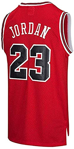 xzl Hombres Baloncesto Jersey NBA Michael Jordan #23 Youth Training Chaleco transpirable ropa deportiva clásica rojo - M