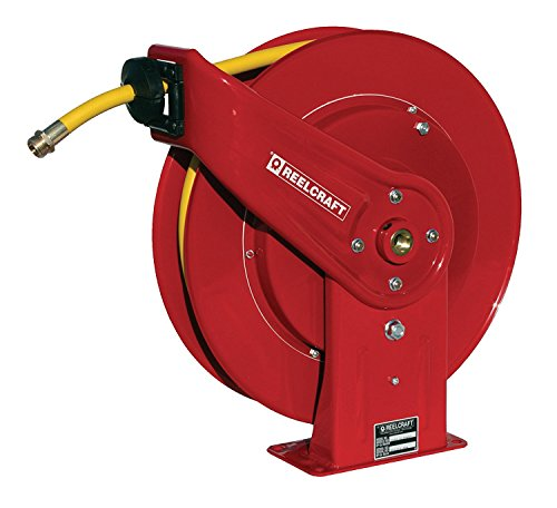 Reelcraft 7850 OLPSW57 1/2-Inch by 50-Feet Spring Driven Garden Hose Reel for Water