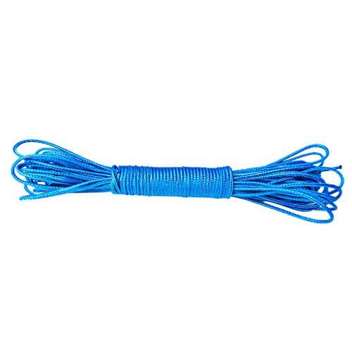 Toygogo Hochfeste 485lb Wurfleine 100% UHMWPE Geflochtene Kordel Hängematte Ridgeline Suspension Für Baumklettern Wandern - Blau