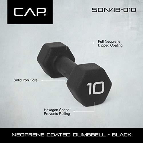Product Image 2: CAP Barbell Black Neoprene Coated Single Dumbbell, 10 Pound