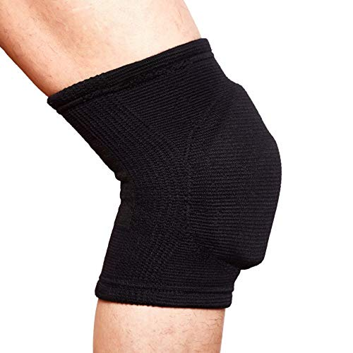 Volleyball Knee Pads Superior Shock Absorbing Cushion Padding, Basketball Dance Riding Protector for Men Women Youth (Medium)