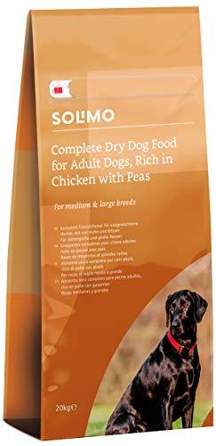 Amazon-Marke: Solimo - Komplett-Trockenfutter für ausgewachsene Hunde (Adult) mit viel Huhn und Erbsen, 1er Pack (1 x 20 kg)