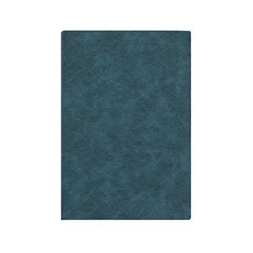 Cuadernos Notebook/Diario clásico Bloc de Notas, B5 Tapa Dura portátil PU, Papel Grueso, Hojas Sueltas de Negocios Diario Blocs de Notas y Diarios (Color : Green)