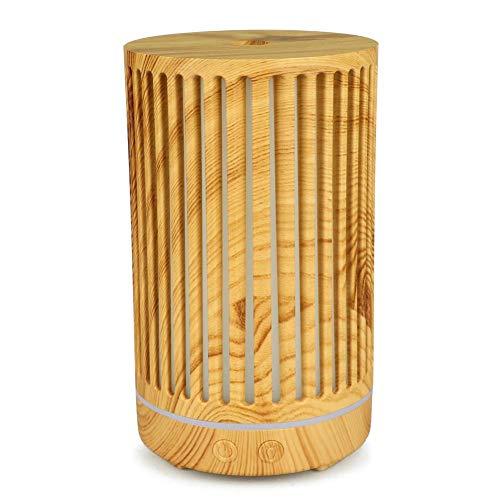 KSITH Scava Fuori 200ml hout aromatherapie Macchina luchtbevochtiger ultrasone Dell'etherische olie luchtbevochtiger 7 LED's welke kleurverandering mini diffuser van Dell'Aroma