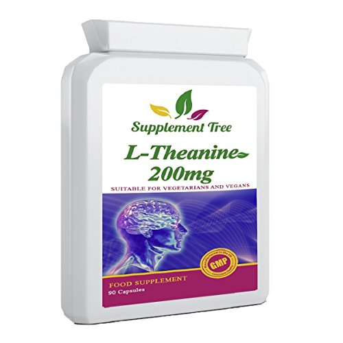 L-Theanine 200mg 90 Capsules | 100% Non GMO | UK Manufactured | Vegan & Vegetarian Friendly