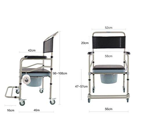 JMung'S Mobiler Toilettenstuhl HöHenverstellbar Nachtstuhl Fahrbarer Drive Medical Auf Rollen Neu FüR die Professionelle Pflege GST-2044