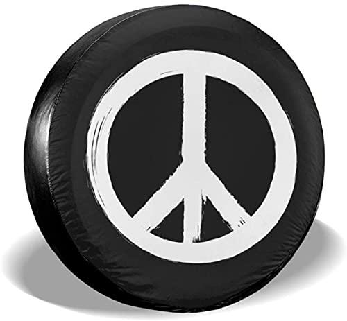 Peace Sign - Cubierta para llantas de repuesto,poliéster,universal,de 17 pulgadas,para llantas de repuesto para remolques,vehículos recreativos,SUV,ruedas de camiones,camiones,caravanas,accesorios pa