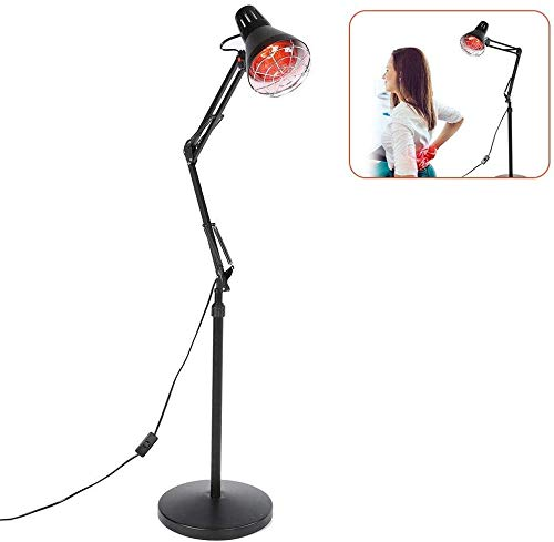 Read About Tanning Lamps Infrared Light Heating Floor Lamp for Thermotherapy Muscle Pain Relief Accu...