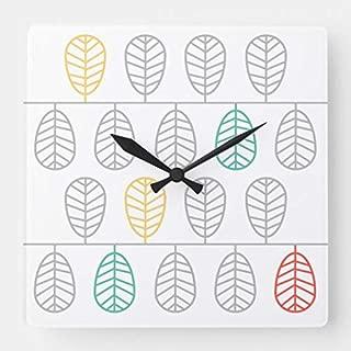 TattyaKoushi 15 by 15-Inch Wall Clock, Leaf! - Scandinavian Swedish Style Clock, Living Room Clock, Home Decor Clock