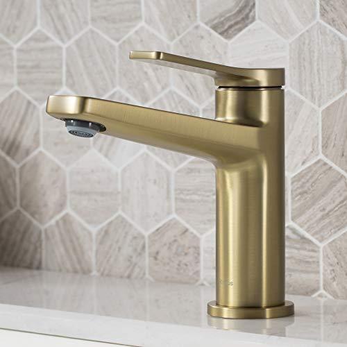 Kraus KBF-1401BG-2PK Indy Bathroom Faucet, Brushed Gold