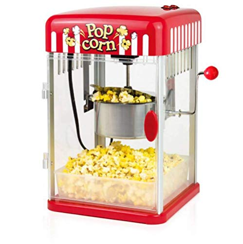 Popcorn Machine, Hot Oil Popcorn Maker 1200W with Non-Stick Kettle Retro Light, Pourable Handle, Includes Measuring Cup Oil and Corn kernels, Popcorn Tray, for Movie Nights and Christmas (2oz)