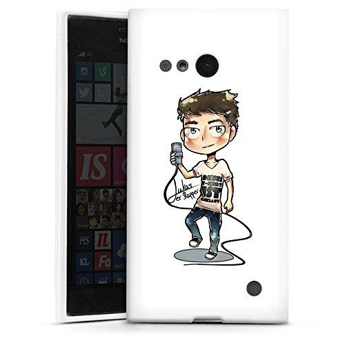 Silikon Hülle kompatibel mit Nokia Lumia 735 Hülle weiß Handyhülle Design Logo Youtuber