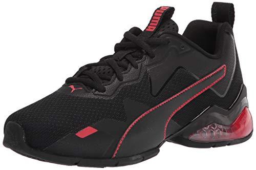 PUMA mens Cell Valiant Running Shoe, Black/High Risk Red,...