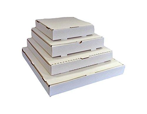 25 cajas de pizza que también se pueden usar para envíos postales, color blanco, ideales para enviar vinilos, color blanco 9.5