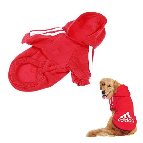 Mostop Dog Pet Hoodie Kleidung, Baumwolle Warm Dog Puppy Coat Jacke Herbst Winter Cartoon Outwear Kostüm für Dog Pet (S/Red)