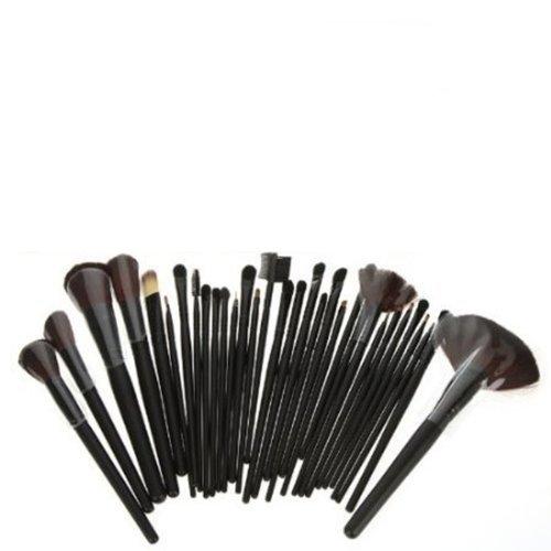 32x Pinceaux Trousse à Maquillage Cosmétique Set de trousse PRO