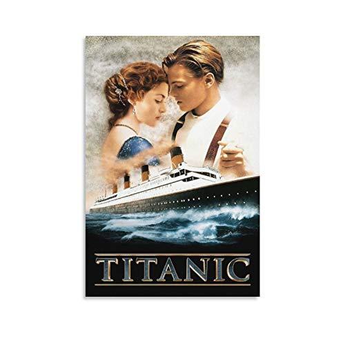 FRFK Titanic Leonardo Dicaprio Billy Zane Kathy Bates Gifts Poster su tela artistica da parete, decorazione moderna, senza cornice, 50 x 75 cm