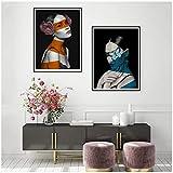 Murales 40x50cm 2Pieces SIN Marco Flor Floral nórdica Mujer Mariposa Cubierta Ojos Lienzo Abstracto Pintura Arte de la Pared Póster para la Sala de Estar Decoración del hogar
