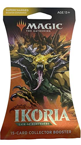 Magic: The Gathering Sleeved Collector Booster Pack MTG Ikoria Lair of Behemoths Size Card Sleeves Individual Pack