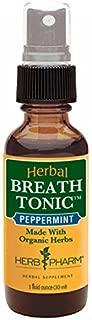 Herb Pharm Certified Organic Peppermint Herbal Breath Tonic Spray - 1 Ounce by Herb Pharm