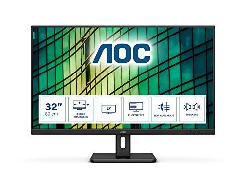"""AOC Monitor U32E2N - 32"""" UHD, 60 Hz, VA, AdaptiveSync, 3840x2160, 350 cd/m, HDMI 2x2.0, Displayport 1x1.2"""