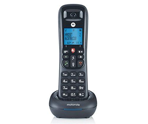 Motorola CD4001 - Teléfono Dect inalámbrico (50 contactos, Manos Libres, Función Alarma) Color Negro