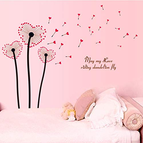 TAOYUE Dandelion Wall Stickers for Home Decoration Living Room Bedroom Background Wallpaper PVC Poster Stickers