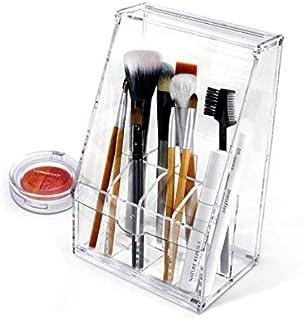 Acrylic アクリル DIY Cosmetic 透明 コスメケース 蓋付き メイクケース メイク ボックス 化粧品 入れ コスメ ブラシ 収納 スタンド/Organizer storage For Eyebrow Pencil & Brush Make-up [並行輸入品]