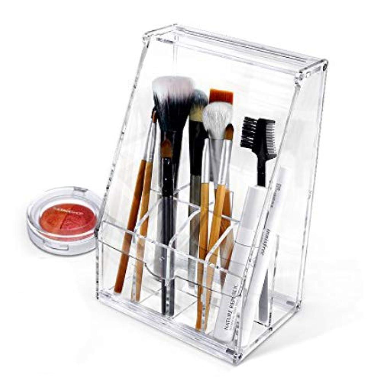 メーカーマーチャンダイザー豆Acrylic アクリル DIY Cosmetic 透明 コスメケース 蓋付き メイクケース メイク ボックス 化粧品 入れ コスメ ブラシ 収納 スタンド/Organizer storage For Eyebrow Pencil & Brush Make-up [並行輸入品]
