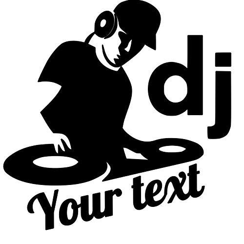 BLOUR Decoración de Coche DJ música Texto Vinilo calcomanía Pegatina Motocicleta SUV Parachoques PegatinasBonitas y geniales Accesorios de Coche Pegatina de Coche