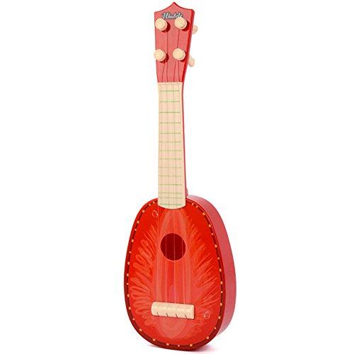 kuaetily Kinder Ukulele Mini Obst Gitarre Spielzeug (Erdbeere)