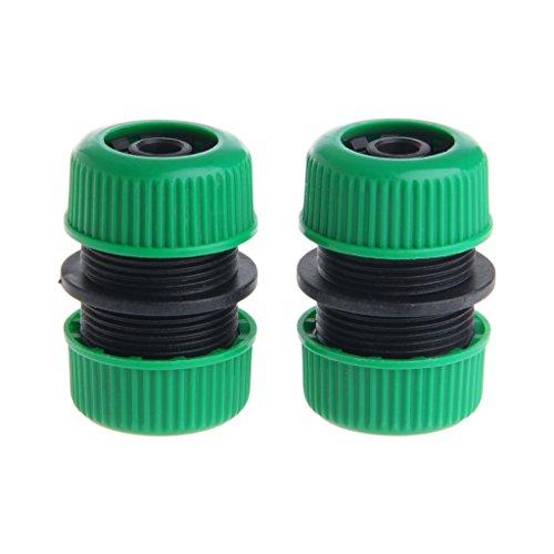 Kofun - Conector de manguera de jardín de 1/2 pulgadas, 2 piezas de 1/2 pulgadas para manguera de jardín