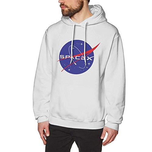 DDECD Herren Hoodie Kapuzenpullover Louishollings Men's Print Pullover Hoodie Comfortable Spacex White Hooded Sweatshirt