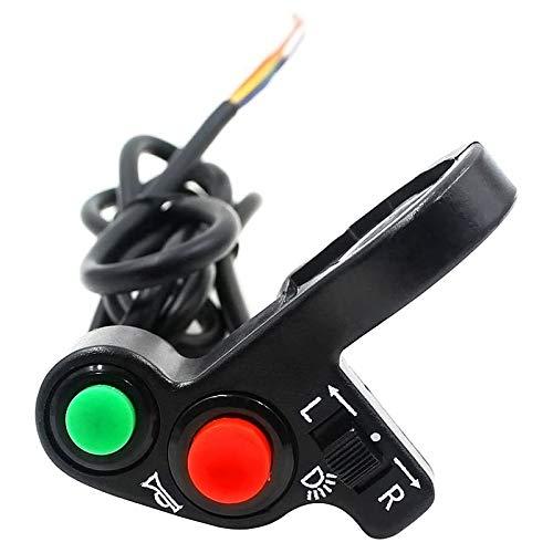 Kuinayouyi Interruptor del Manillar de la Motocicleta Scooter Bicicleta EléCtrica Bocina SeeAles de Giro BotóN de Encendido/Apagado Interruptor de Luz