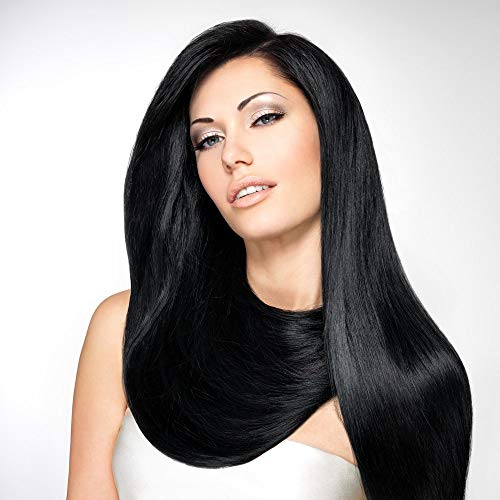 """Shantique Halo Hair Extensions COLOR #1 Size 18"""". Top Quality Virgin Remy 100% Unprocessed Brazilian Human Hair"""