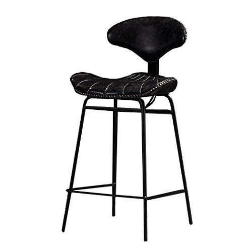 JQQJ bartafel met barkruk oliewas huid 4 poten barkruk in de rug staal hoge kruk eenvoudig restaurant kruk hoge stoel