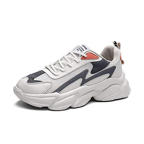 [Inuppy] スニーカー メンズ 厚底 ランニングシューズ 超軽量 通気性 防滑 クッション性 ウォーキングシューズ 運動靴 ジョギング トレーニング スポーツ 大きいサイズ