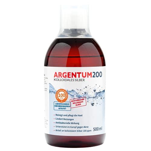 Argentum200 Argent Colloïdal 100 ppm 500 Ml