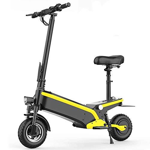 FUJGYLGL Adulto Scooter eléctrico, batería extraíble, Capacidad de Carga Fuerte, Resistencia Fuerte, con función de iluminación, Fuerte Rendimiento de frenado