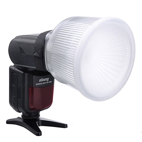 HIFFIN®Lambancy White Flash Diffuser Reflector for Camera Diffuser (Multicolor)