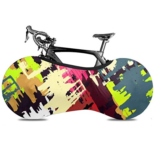 Lindsay Gosse Fahrradabdeckung Schöne Bunte abstrakte Gra-ffiti Polygone UV-Staub Sonne Motorradabdeckungen für Mountain Road E-Bike Dreirad